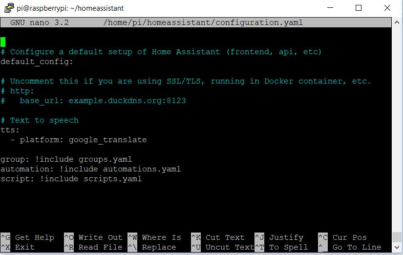Edycja pliku konfiguracyjnego Home Assistant