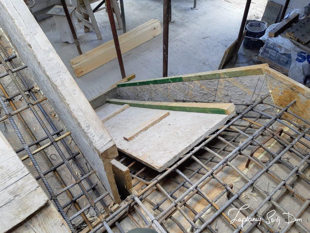 Zbrojenie schodów betonowych